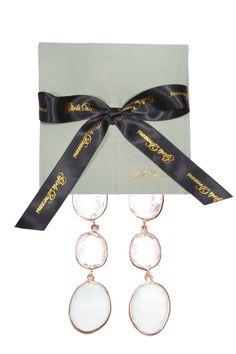 #GirlsDreams | #Ohrringe mit transparenten #Bergkristall und hellgrünem #Achat | Girls Dreams | mymint-shop.com | Ihr Online #Shop für #Secondhand / #Vintage Designerkleidung & Accessoires bis zu -90% vom Neupreis das ganze Jahr #mymint