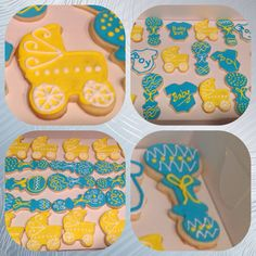 Royal Icing Baby Shower Cookies