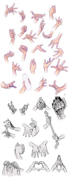 Hand Compilation by Tamasaburo09 on DeviantArt
