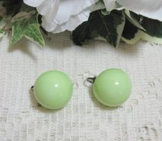 Vintage Melon Green Earrings @ Vintage Touch $3.00