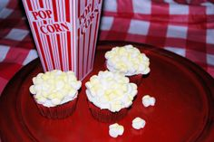 Love Bug Living: Popcorn Cupcakes