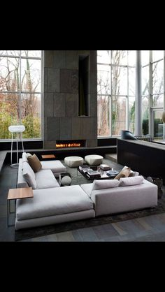 Beautiful and sleek contemporary living room.