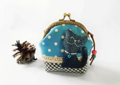 Coin purse Cat purse Metal frame purse 10 cm frame by DooDesign Cat Purse, Purse Wallet, Pouch, Purses And Handbags, Coin Purses, Frame Purse, Sale Items, Special Gifts, Handmade Items