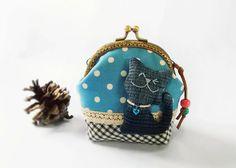 Coin purse Cat purse Metal frame purse 10 cm frame by DooDesign, $22.90