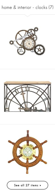 """""""home & interior - clocks (7)"""" by bonadea007 ❤ liked on Polyvore featuring home, home decor, wall art, furniture, tables, accent tables, clocks, outdoors and outdoor decor"""