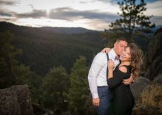 Lost Gulch Overlook Colorado Rocky Mountain Proposal Just Engaged