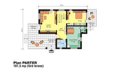 Case frumoase. 3 proiecte cu o arhitectura speciala, pentru o locuinta de vis Beautiful House Plans, Beautiful Homes, Tree Bedroom, Small House Design, Floor Plans, How To Plan, Houses, Cabin Style Homes, Dream Houses