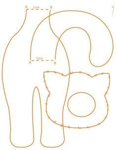Pattern for a felt cat :-)