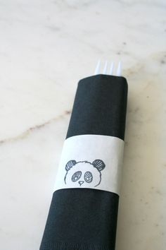 Panda Decorations - Panda Party - Paper Napkin Wraps - Birthday Party Decorations by Ogelbird on Etsy https://www.etsy.com/listing/275164460/panda-decorations-panda-party-paper