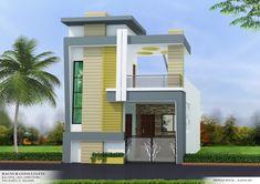 2 Storey House Design, Bungalow House Design, House Front Design, Small House Design, Cool House Designs, Modern Exterior House Designs, Modern House Design, 30x40 House Plans, House Architecture Styles