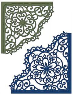 Heartfelt Creations | Decorative Blossom Corner Die $29.99