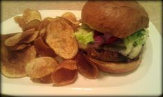 The Green Leaf Grill, Waynesboro, VA (This is their veggie burger and their homemade chips). Photo by Tara Stoll.