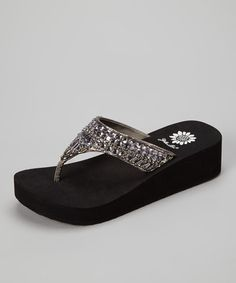 Take a look at this Pewter Peachy Sandal - Women by Yellow Box Shoes on #zulily today!