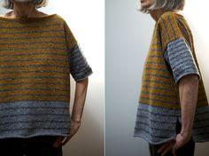 Tweedy -- Stripey (Photos: wychfingers) New to Ravelry just this week, Stripey--Tweedy by Leslie Weberis a roomy, boxy pullover designed to be worn with lots of positive ease. What I love about th...