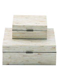 UMA Wooden Inlay Boxes (Set of 2)