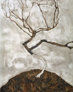 SMALL TREE IN LATE AUTUMN - EGON SCHIELE, 1911