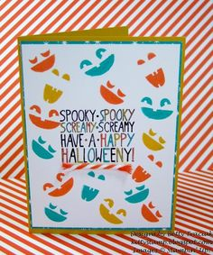 Fall Fest Spooky Faces by kittystamp - Cards and Paper Crafts at Splitcoaststampers