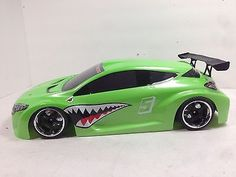 200mm Neon Green Painted 1/10 RC Touring Car Body / RC Drift Car Body