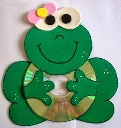 houd evt een hartje vast!!!! Τι μπορούμε να φτιάξουμε με τα παλιά cd ~ Είμαι παιδί