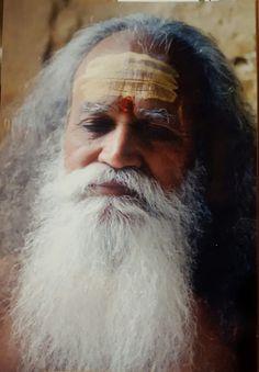 Swami Satchidananda in meditation