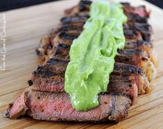 For the Love of Cooking » Grilled Steak with Avocado Sauce