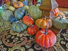 Pumpkins and Gourds are a great addition to your home for Fall.
