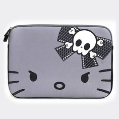 Exclusive Hello Kitty Skull Bow Laptop Case