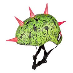 Krash Lightning Skull Spikes Helmet    Amazon.com : Krash Lightning Skull Spikes Helmet : Bike Accessories : Sports & Outdoors