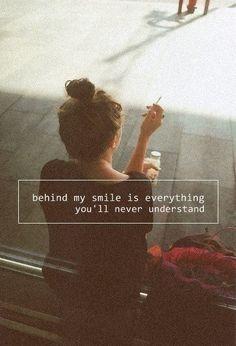 behind my smile...