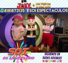 Jake y sus amigos viven increibles aventuras en tu fiesta, el festejado encontrara el tesoro perdido.👦👧⚓🗡️ Paquetes desde $1,500 pesos👏👏👏 Damos servicio a toda la Republica Mexicana.🛄✅