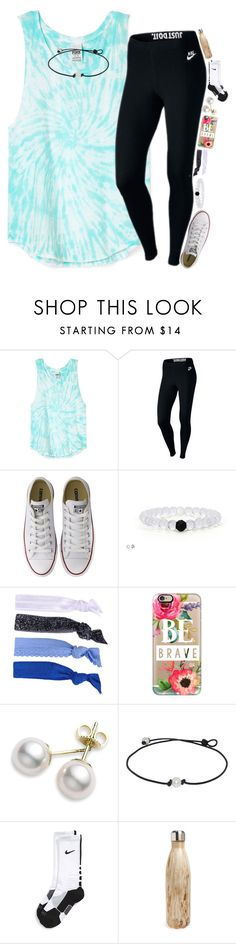 """""""LILY TO 1K"""" by kate-elizabethh ❤ liked on Polyvore featuring NIKE, Converse, Glam Bands, Casetify, Mikimoto and S'well"""