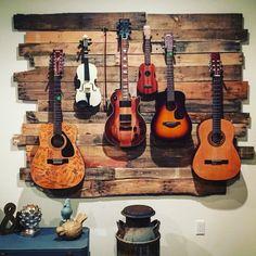 Guitar Hanger Guitar Wall 736 Inspiration Of Diy Guitar Hanger Home Studio Musik, Music Studio Room, Guitar Wall Hanger, Guitar Rack, Guitar Display Wall, Wooden Guitar Stand, Diy Guitar Stand, Guitar Storage, Home Music Rooms