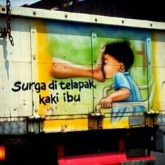 Tulisan Pantat Truk Ini Bisa Bikin Kamu Ngakak dan Nggak Bisa Move On! Silly Quotes, Funny Picture Quotes, Jokes Quotes, Foto Meme, Laugh Meme, Memes Funny Faces, It's Funny, Best Hero, Truck Art