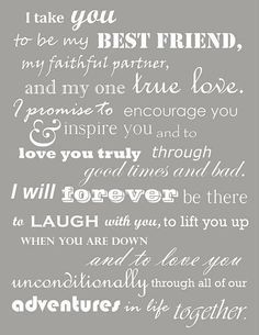 Marriage quotes / Wedding vow inspiration / Love this for your special someone!!