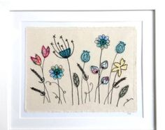 Wildflower Meadow framed wall art.  This item comes in a white frame with white mount included. Outer frame size is 9x9 inches, image size is 6x6 inches including backing card. The frame is MDF and glass. This item is made and ready to post.  *All framed items are posted with Signed For delivery, to avoid damage in transit.*  *Dotty retains Copyright of all products and images taken of them. Photos may be used for marketing purposes*