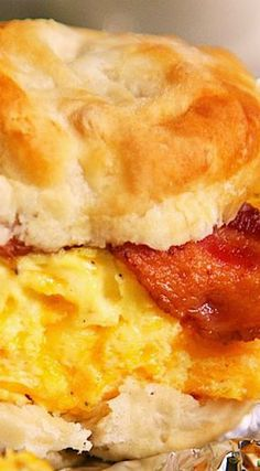 Bacon, Egg & Cheese Biscuit Sandwich