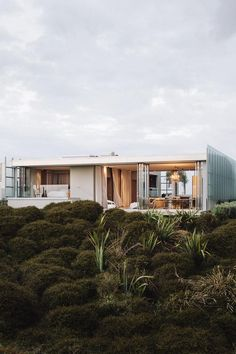 World Architecture Festival 2014 day two winners announced - Dune House by Fearon Hay Architects. World Architecture Festival, Architecture Résidentielle, New Zealand Architecture, Hay Design, Villa, Prefab, Cabana, Interior And Exterior, Interior Modern