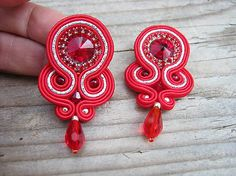 Ridgways / Red/Silver...soutache