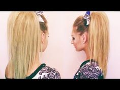Cheer Hair Tutorial...need to learn the poof for my Allie