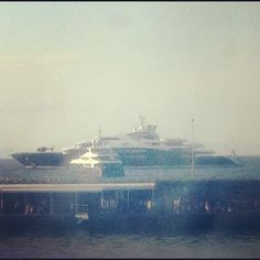 Mega yacht in Capri. Check out that helicopter!