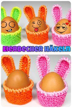 Delores saved to DeloresEinfache Eierbecher Hasenohr Häkeln - Easter Crochet Patterns, Crochet Patterns For Beginners, Crochet Basics, Easy Crochet Animals, Teddy Bear Gifts, Crochet Rabbit, Rabbit Ears, Stuffed Animal Patterns, Easter Baskets