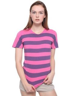 American Apparel Unisex Pigment Striped Jersey Short Sleeve Crew Neck T-Shirt $4.00 - $7.00