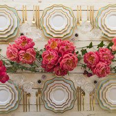 Glamorous tablescape by Casa de Perrin. …