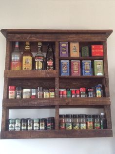 Spice rack from pallets