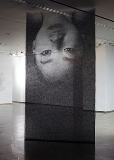 Portraits Cut From Layers of Wire Mesh by Seung Mo Park