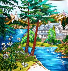 From Come Home To Color Colored by Jules Cote Colored with wide variety of water based markers