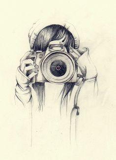 Dit is een tekening gemaakt met potlood. Ik heb deze tekening gekozen omdat ik zelf van fotografie hou. Ik heb het altijd jammer gevonden dat tekeningen niet worden gezien als kunst terwijl sommige tekenaars toch wel echte kunstenaars zijn.