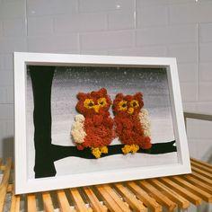 Owl moss frame by won Moss Art, Terrarium Diy, Woody, Bedrooms, Beads, Frame, Wall, Flowers, Home Decor