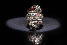 ANEL   Prata e ouro com rodolite e turmalinas naturais multicolor. RING   Silver and 9kts gold with rhodolite and  natural multicolor tourmalines. AN0462 #MarcoCruz #Joalheiro #Jewelry #Joias #Portugal #Silver #Jewels #Fashion