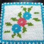 Çiçek desenli lif modelleri #crochet #knit #knitting